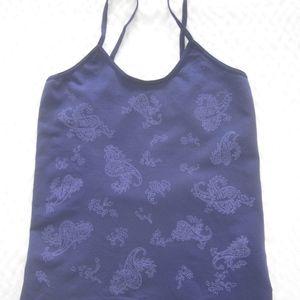 Gap Body Purple Paisley Stretch Camisole Size S/P